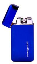 Cigarette Lighter - Silver Match Poplar Blue Dual Arc Sensor Electronic - NEW