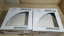 Set of 2 American Olean Ceramic Tile Corner Shelf Bath Bathroom Shower Accessory