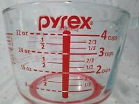 Pyrex Measuring cup 4 cup Spout Open handle NON SLIP bottom glass