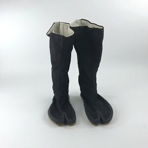 Ninja Tabi Shoes Ninjutsu Boots Mens Size 42 Hook & Loop Backs Unbranded Vintage