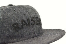 RAISED BY WOLVES POLO 6 PANEL STRAPBACK CAP BLACK AUTHENTIC - IMPORTED FROM USA