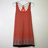 Skies Are Blue Women's Dress Small S Strappy Sleeveless Boho Coral