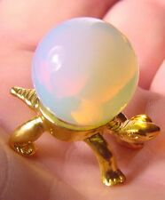 BUTW  opalite 20mm mini opalescent sphere with stand  lapidary marble 5477Ax