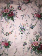 ralph lauren full fitted sheet Blaine floral Blue Label HTF