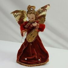 Inarco Angel Small Red Tree Topper Collectible Christmas Ornament Holiday Decor