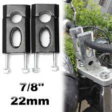 Aluminum 7/8'' 22mm Handlebar Clamp Riser Mount 50cc 110cc 125cc Dirt Bike ATV