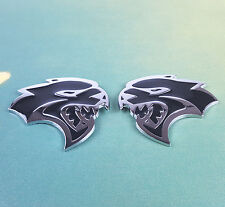 2Pcs L/R Metal HELLCAT Emblem Badge Sticker Decal Dodge Challenger SRT HEMI Auto