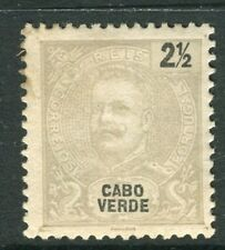 PORTUGAL CABO VERDE;  1898 early Carlos issue Mint unused 2.5r. value