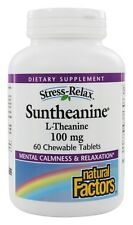 Natural Factors Stress-Relax Suntheanine L-Theanine 60 Chewable Tablets