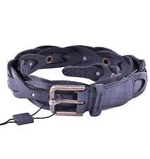 DOLCE & GABBANA Geflochtener Gürtel Schwarz Braided Belt Black 03935