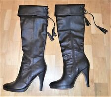 Sexy Stiefel Overkneestiefel Overknee Leder High Heel Boots DE 37 Sexy Black