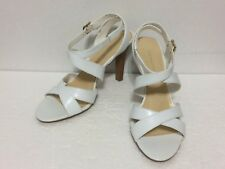 """New  Worthington ~ Cute Sexy White Leather Shoes, Sz 9.5, 4.25"""" High"""