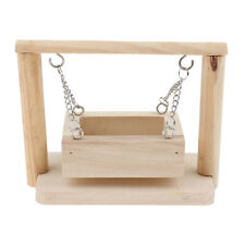 Wooden Swing Hanging Basket for Mouse Chinchilla Gerbil Dwarf Hamster