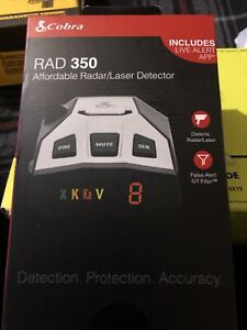 Cobra RAD 350 Laser Radar Detector Live Alert App - New