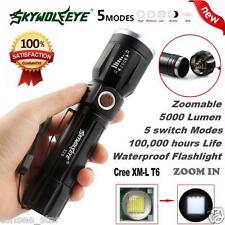 5000LM 5Modes CREE XM-L T6 LED 18650 Battery Flashlight Focus Taschen lampe Zoom
