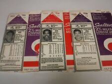 Buffalo Bills 1996 Sealtest Lot Of 3 Milk Carton Bios Eugene Marve++ 102517jh