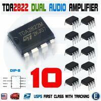 10pcs TDA2822M TDA2822 Dual Audio Power Amplifier Multipurpose Low Voltage Amp