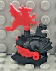 LEGO Castle Minifigure Headgear Helmet w/ Dragon Knights Crown Top & Red Plumes