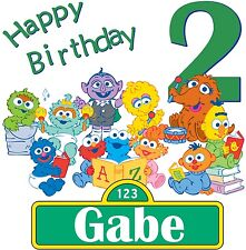 Baby Sesame Street Elmo CustomTshirt Personalize birthday party gift  PBS