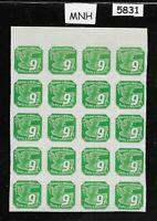 MNH partial stamp sheet / B a M WWII Occupation / Newspaper / Third Reich 1939