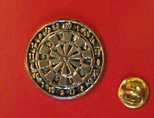 English Pewter DARTS, Large dartboard Pin Badge Tie Pin / Lapel Badge (XTSBPS17)