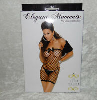Elegant Moments The Vivace Collection Mini Dress Fishnet Chemise Lingerie 90-165