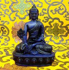 MEDICINE BUDDHA Tibetan Statue Handmade from Nepal Resin 5.25 Inch