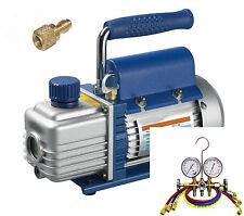 Kälte - Set TÜV Vakuumpumpe + Monteurhilfe + Schläuche 50lt., R410a R404a R134a