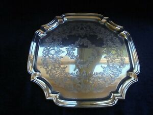 VINTAGE RANLEIGH AUSTRALIA SILVER PLATE SERVING TRAY CANTERED CORNERS