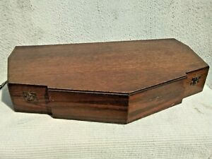LARGE VINTAGE ART DECO WOODEN CUTLERY CANTEEN STORAGE BOX