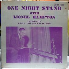 ONE NIGHT STAND WITH LIONEL HAMPTON LP CULVER CITY LIVE 7/20/47-6/16/44 SEALED!!