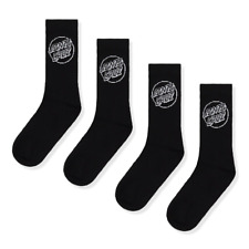 Santa Cruz Mono Socks 4 Pack Black