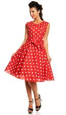 Looking Glam 50s Retro Swing Dress 14 Vintage Rockabilly Pin Up Landgirl Party