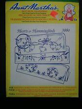 Vintage Aunt Martha's Hot Iron Transfers 3880 Hearts & Hummingbirds  UNopened