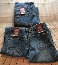 Lot Of 3 Boy's ARIZONA JEAN CO Relaxed Jeans Size 16 Husky Gift