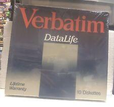 """Vintage Pack of Verbatim Datalife 2S/2D 8"""" Floppy Diskettes - P/N: 34-4008 (NOS)"""