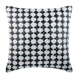 Decorative Zipper Pillow 16x16 inch White Silk, Pattern - Russian Roulette