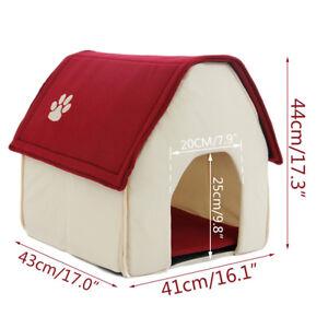 HOT!! Pet Bed Portable Soft Mat Indoor Dog House Blanket Cat Home Medium Size