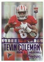 2015 Panini Prestige Rookies Extra Points Purple /100 #289 Tevin Coleman Falcons