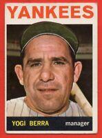 1964 Topps #21 Yogi Berra VG-VGEX WRINKLE  HOF New York Yankees FREE SHIPPING