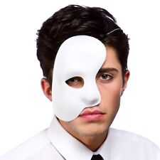 Phantom Of The Opera Side Mask Mens Ladies Fancy Dress Accessory