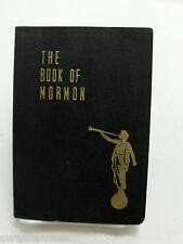 BOOK OF MORMON 1950 Collectable Black Softback w/ Angel Moroni LDS Vintage