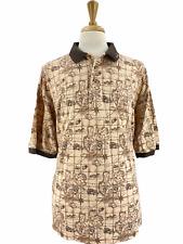 Vintage Tabasco Men's Sportswear Golf Short Sleeve Polo Shirt Full Print Sz XXL