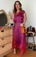 ZARA WOMAN CAMPAIGN COLLECTION CONTRASTING LACE DRESS FUCHSIA S 8353/036 NEW