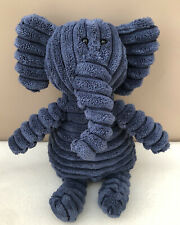 Jellycat Cordy Roy Elephant Comforter Soft Baby Toy Cord Ribbed Blue Small 12""