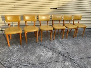 6 Gorgeous Dining Chairs Retro Vintage Mustard