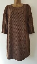 NEW ExAnn Harvey Plus Size 16-32 Beige Black Geometric Print Tunic Top Blouse