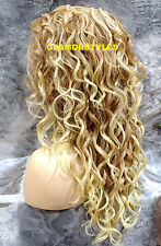 """30"""" Blonde Mix Hand Tied Lace Front Wig Heat Ok Wavy Hair Piece #T27/613 NWT"""