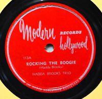 Hadda Brooks Rocking the Boogie 78 VG++ R&B Jazz Modern 113 The Man I Love