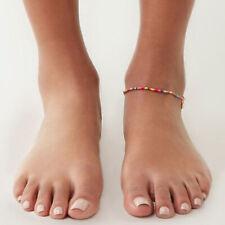 Chain Girls Beach Bracelet Jewelry Bohemian Anklets Shell Handmade Beaded Foot